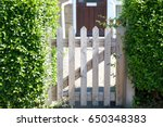 Wooden Gate In The Hedge...