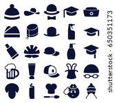 cap icons set. set of 25 cap... | Shutterstock .eps vector #650351173