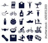 lifestyle icons set. set of 25... | Shutterstock .eps vector #650351203