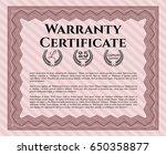 red warranty. cordial design.... | Shutterstock .eps vector #650358877