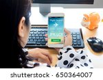 mobile flight booking concept...   Shutterstock . vector #650364007