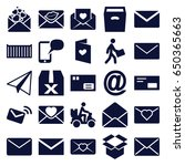 mail icons set. set of 25 mail... | Shutterstock .eps vector #650365663