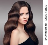 beauty hair. beautiful model... | Shutterstock . vector #650371837