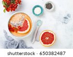 healthy breakfast set.... | Shutterstock . vector #650382487