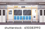 empty subway car interior... | Shutterstock .eps vector #650383993