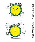 linear art of a clock in still