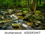 rocks and the flowing waters of ... | Shutterstock . vector #650392447