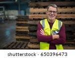 portrait of male factory worker ...