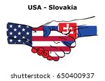 cooperation between the usa... | Shutterstock .eps vector #650400937