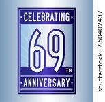 69 years anniversary design... | Shutterstock .eps vector #650402437