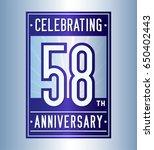 58 years anniversary design... | Shutterstock .eps vector #650402443