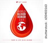 illustration of donate blood... | Shutterstock .eps vector #650403163