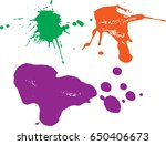 vector paint splatters.colorful ...   Shutterstock .eps vector #650406673
