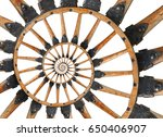 Abstract Spiral Wooden Wagon...
