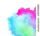 abstract watercolor hand... | Shutterstock . vector #65040880