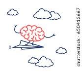 brain on right direction.... | Shutterstock .eps vector #650412667