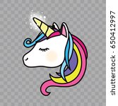 unicorn icon isolated vector... | Shutterstock .eps vector #650412997