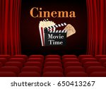 movie cinema poster design.... | Shutterstock .eps vector #650413267