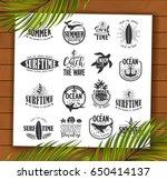 summer typography design... | Shutterstock .eps vector #650414137