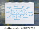 concept of learning english... | Shutterstock . vector #650422213