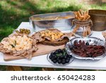 salty and cheese bar of several ... | Shutterstock . vector #650424283