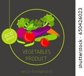carrots  peppers  cucumber ... | Shutterstock .eps vector #650426023