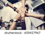 business colleagues together... | Shutterstock . vector #650427967