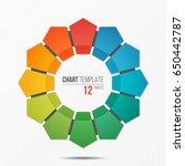 polygonal circle chart... | Shutterstock .eps vector #650442787