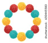 vector chunky wreath with... | Shutterstock .eps vector #650445583
