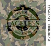 faceless on camouflage pattern | Shutterstock .eps vector #650449183