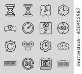 set of 16 hour outline icons... | Shutterstock .eps vector #650452987
