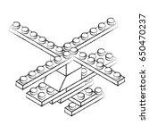 toy building block bricks | Shutterstock .eps vector #650470237