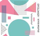 seamless geometric pattern in... | Shutterstock .eps vector #650475163