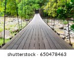 suspension bridge over the... | Shutterstock . vector #650478463