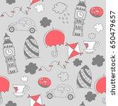 london hand drawn seamless... | Shutterstock .eps vector #650479657