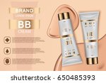 skin toner cosmetic products ad.... | Shutterstock .eps vector #650485393