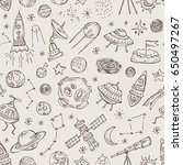 space seamless with space... | Shutterstock .eps vector #650497267