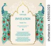 wedding invitation card... | Shutterstock .eps vector #650501323