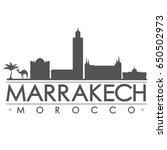 marrakech skyline silhouette...   Shutterstock .eps vector #650502973