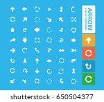 arrow icon set clean vector | Shutterstock .eps vector #650504377