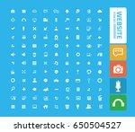 website icon set clean vector | Shutterstock .eps vector #650504527