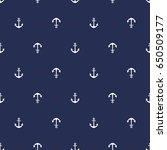 marine seamless pattern  anchor | Shutterstock .eps vector #650509177