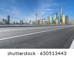 city empty traffic road with... | Shutterstock . vector #650513443