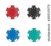 casino chips set. vector... | Shutterstock .eps vector #650515573