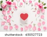 valentines day theme with rose... | Shutterstock . vector #650527723