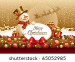 vector christmas illustration... | Shutterstock .eps vector #65052985