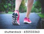 close up shoes  legs. sport... | Shutterstock . vector #650533363