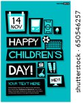 14 november happy children's... | Shutterstock .eps vector #650546257