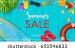 vector illustration of summer...   Shutterstock .eps vector #650546833