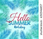 vector illustration of hello... | Shutterstock .eps vector #650546857